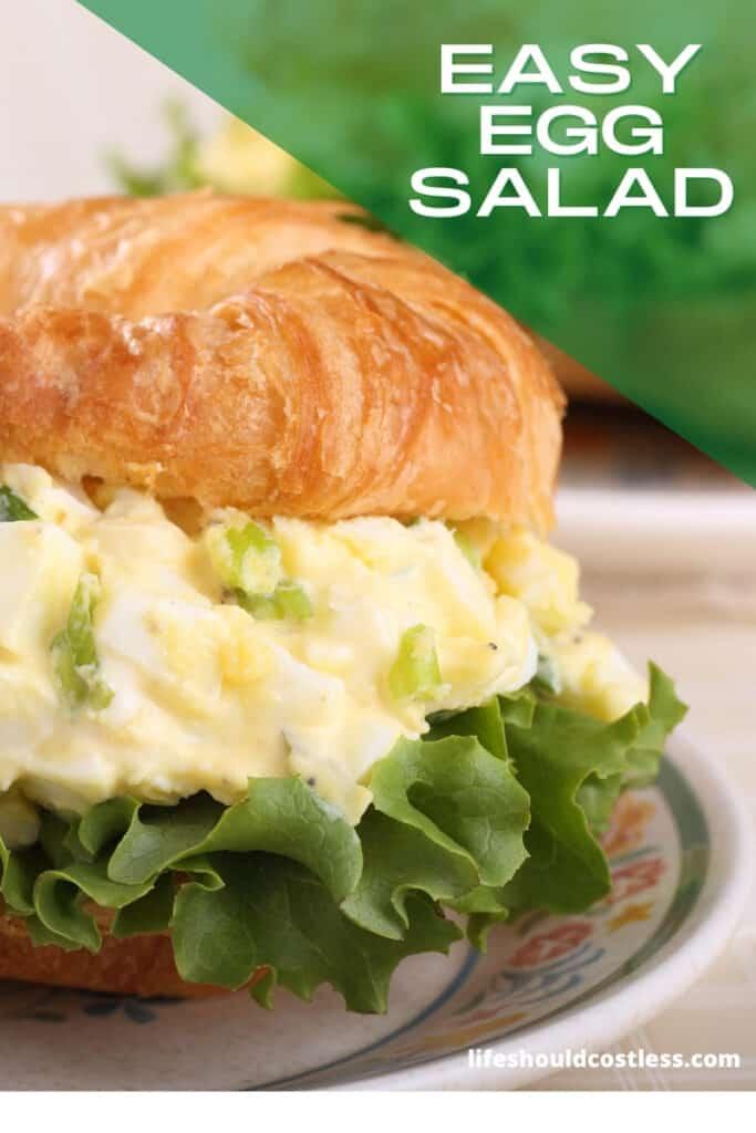 How to make egg salad sandwich, easy base recipe. lifeshouldcostless.com
