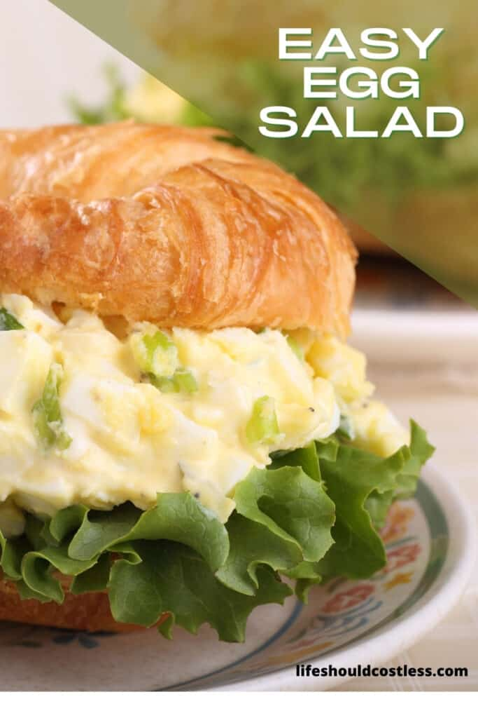 How to make egg salad sandwich, easy basic recipe. lifeshouldcostless.com