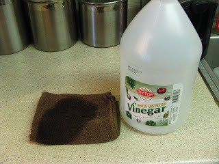 White Distilled Vinegar in the Dryer