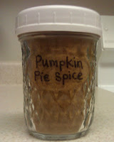 Pumpkin Pie Spice (to fill a 1/2 pint Jar)