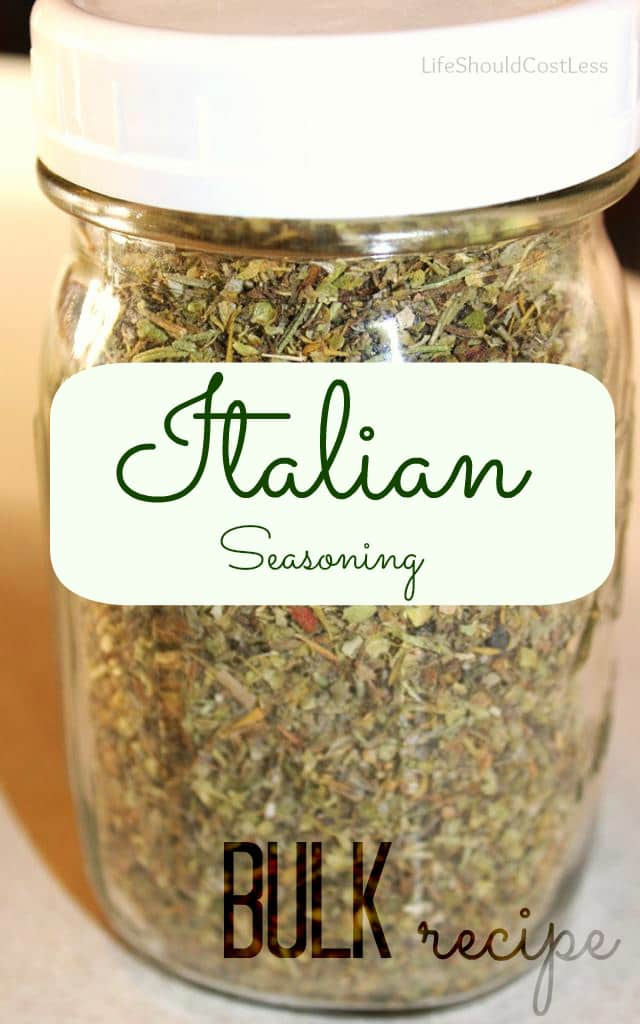 Bulk Italian Seasoning Recipe. It Fills a Pint Jar!
