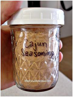 Cajun Seasoning (fills 1/2 pint jar)