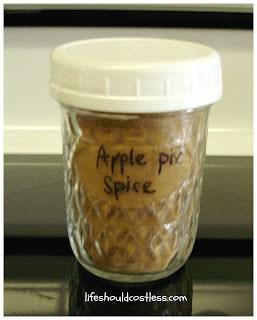 Apple Pie Spice (to fill 1/2 pint jar)
