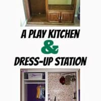 Play Kitchen and Dress-Up Station, All in One