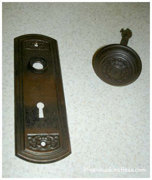 Antique Doorknobs as Drape Tie backs How to install them Life