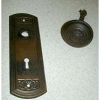 Antique Doorknobs as Drape Tie backs, How to install them