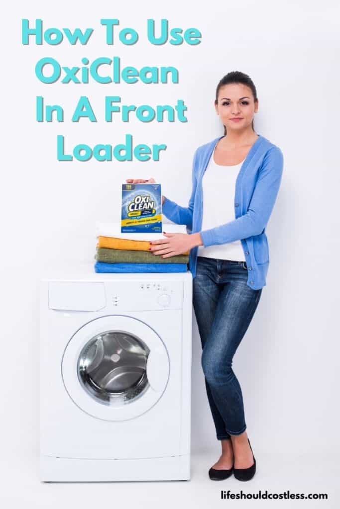 Where do i put oxiclean in my front load washer?