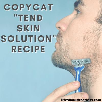 DIY aftershave recipe