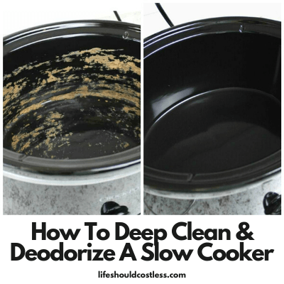 How to deodorize and clean a slow cooker/ crock pot. lifeshouldcostless.com