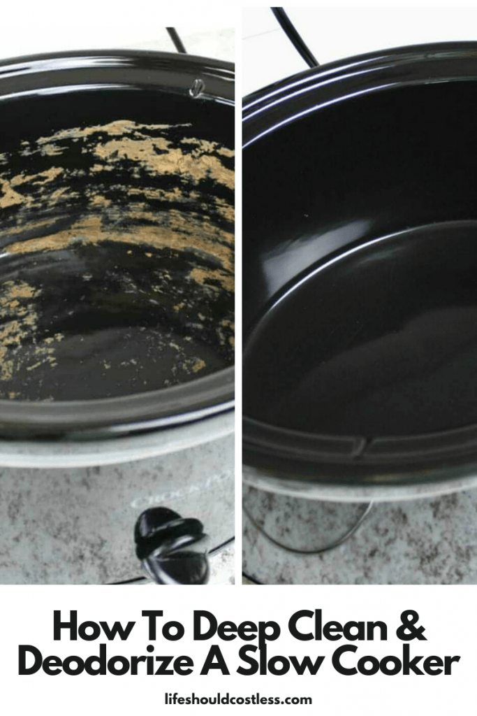 Best way to clean a slow cooker. lifeshouldcostless.com
