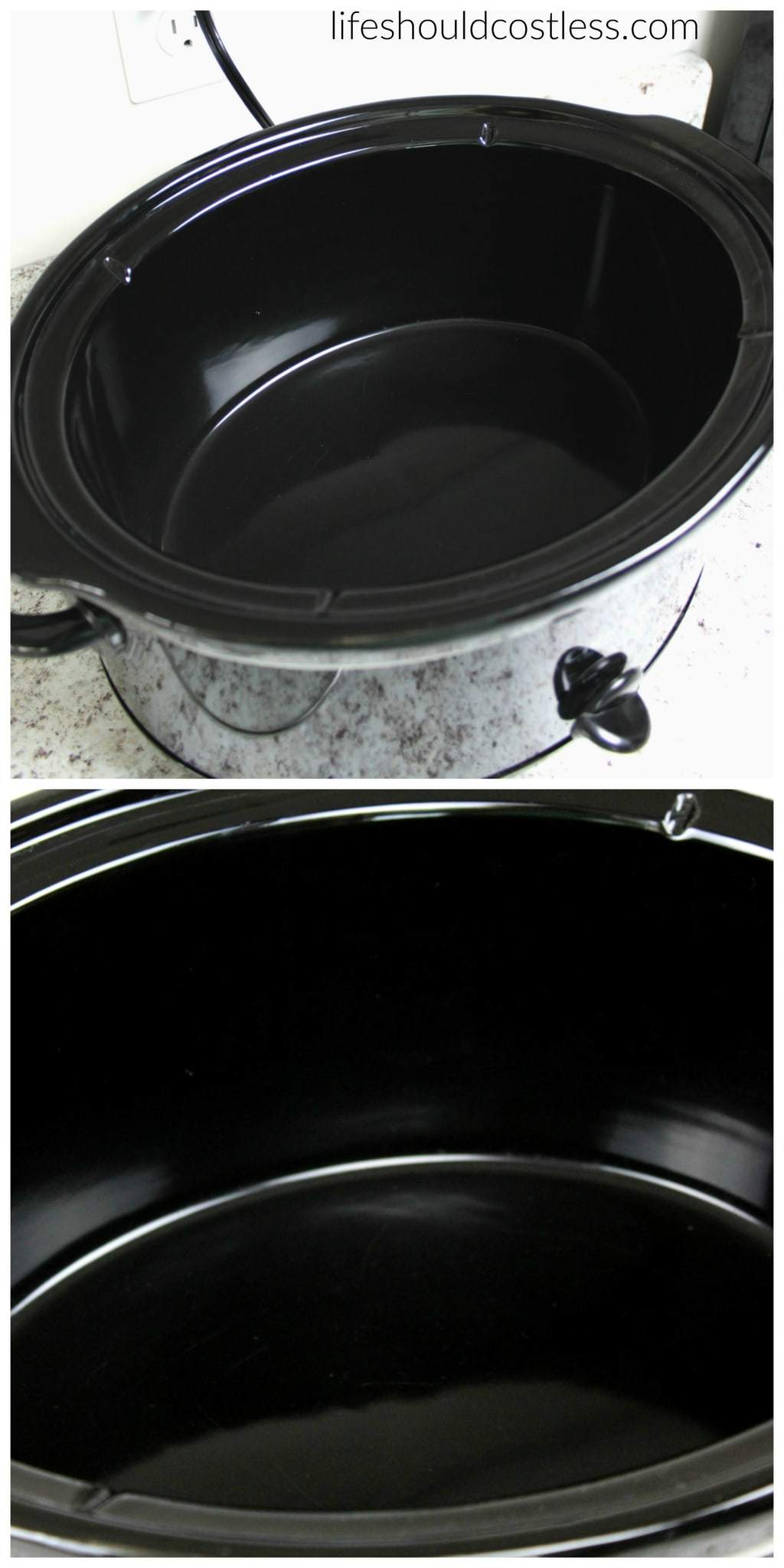 How to make your slow cooker clean itself! Ring of crud be gone with less than 30 seconds of scrubbing. After
