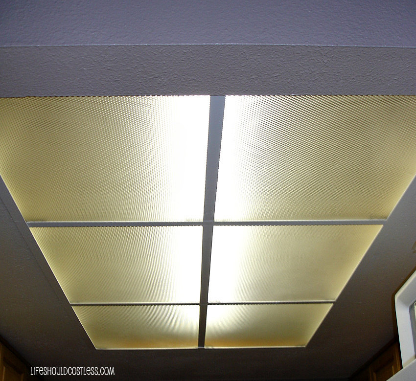 how to clean those nasty ceiling light covers paneling in