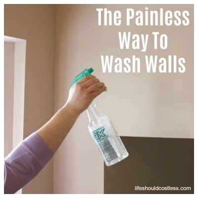 The Painless Way To Wash Walls (may be the easiest way to wash walls)