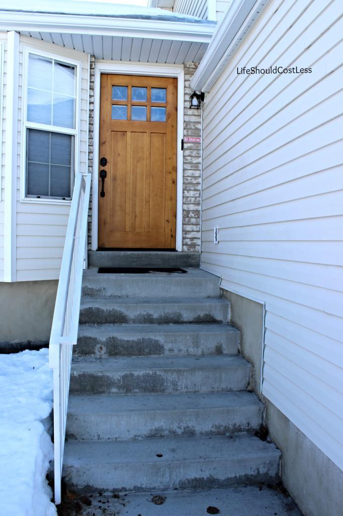 Our New Place Has A Lot Of Stairs Leading Up To The Front Door Compared One Step We Had At Condo If I Still Lived In Salt Lake