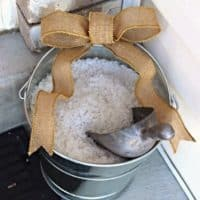 Ice-Melt Storage Solution For The Front Porch