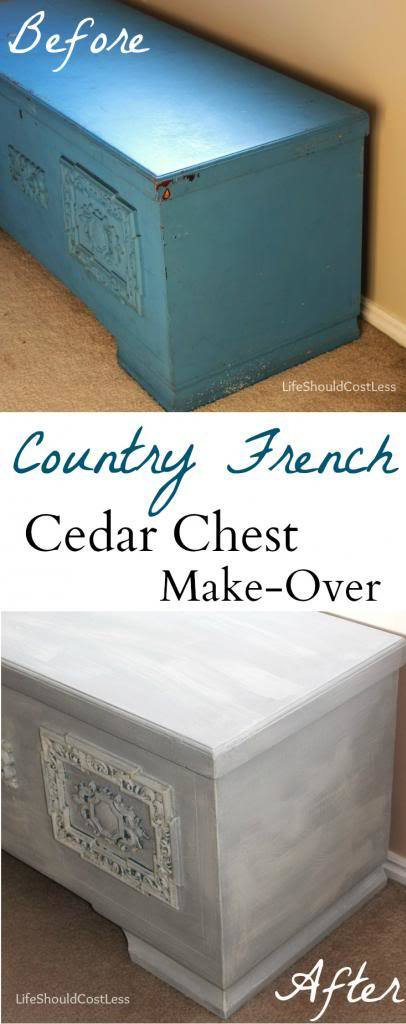 My Country French Cedar Chest Make-Over with Chalk Paint.