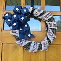 Burlap Patriotic Wreath For Summer, With Basic Tutorial