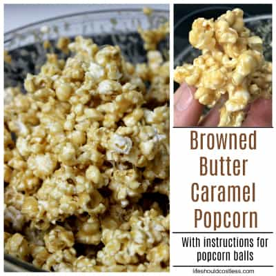 Browned Butter Caramel Popcorn Recipe