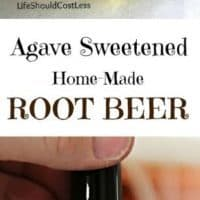 Agave Sweetened Home-Made Root Beer