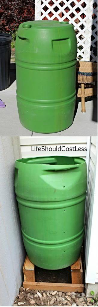 Leaky Water Barrel Turned Basic Compost Bin, With Tutorial