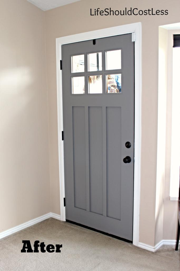 Interior Front Door Re Do Life Should Cost Less