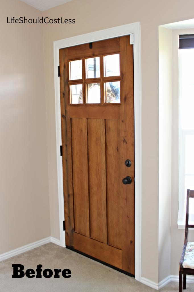 Interior Front Door Re-Do - Life Should Cost Less