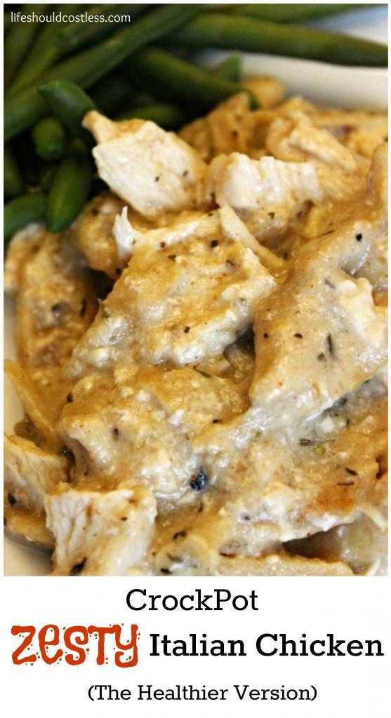 CrockPot Zesty Italian Chicken, The Healthier Version