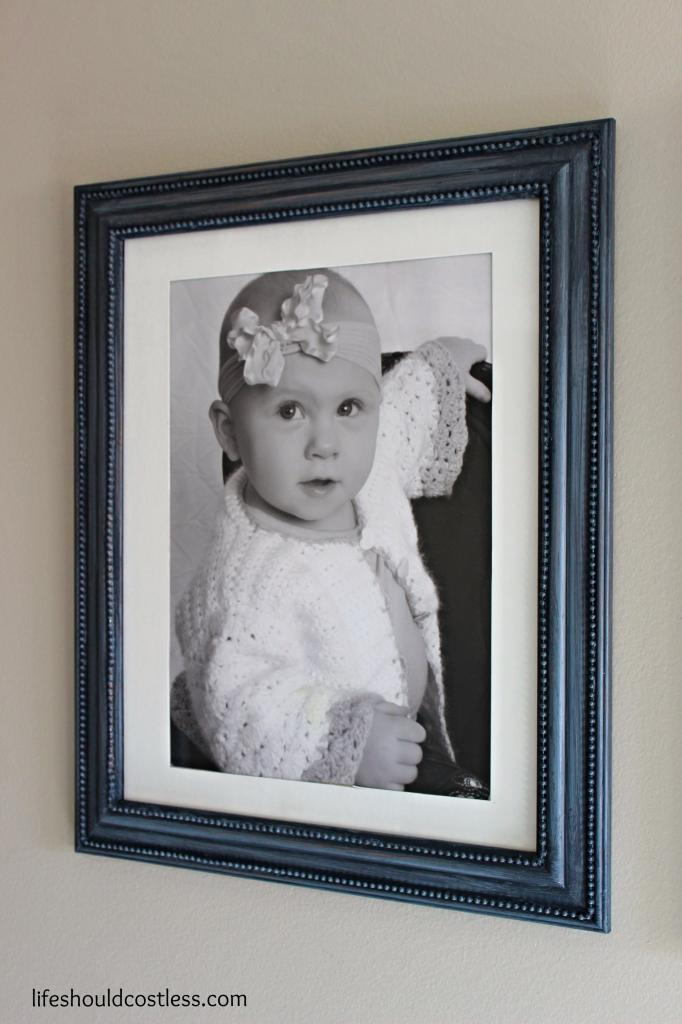 Cheap Picture Frame Make-Over & The One-Year-Old Wall - Life Should ...