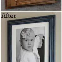 Cheap Picture Frame Make-Over & The One-Year-Old Wall