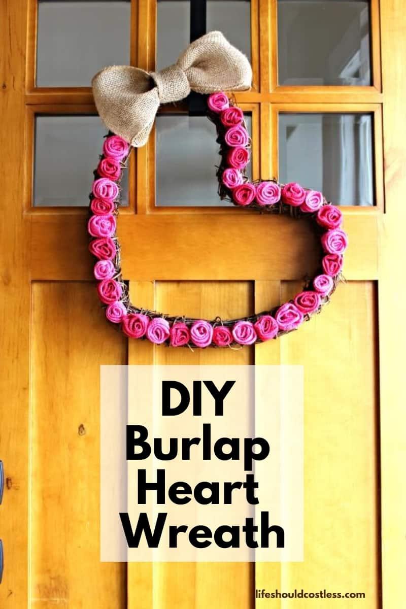 Valentine's Day Heart Wreath DIY