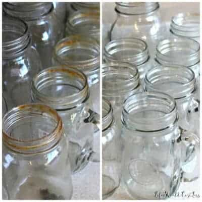 Second Hand Mason Jar Cleaning Regimen