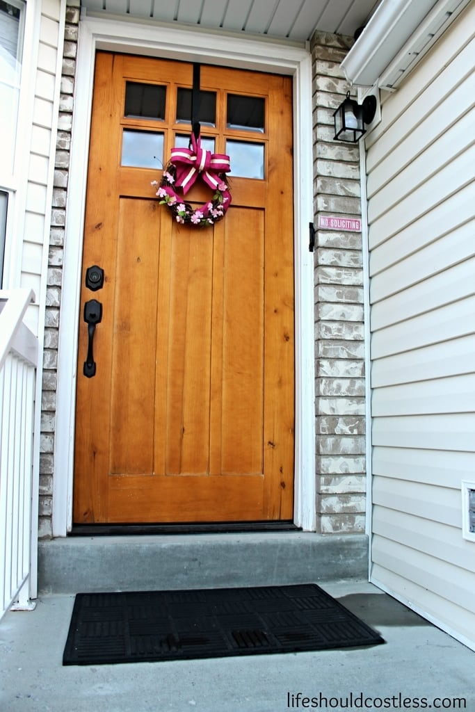 $100 Or Less Front Door Spruce Up Challenge - Life Should Cost Less