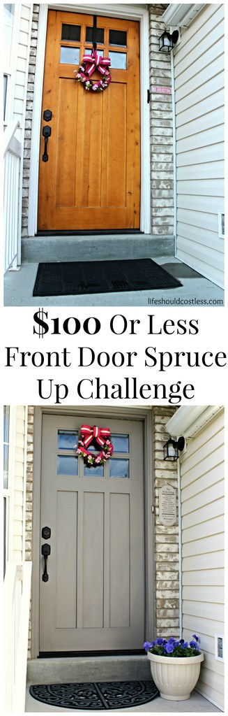 $100 Or Less Front Door Spruce Up Challenge
