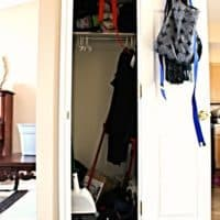 Coat Closet Turned Pretty(Canning) Second Pantry & Coat Closet Phase 1, Gutting, Patching, Baskets, & Shelves