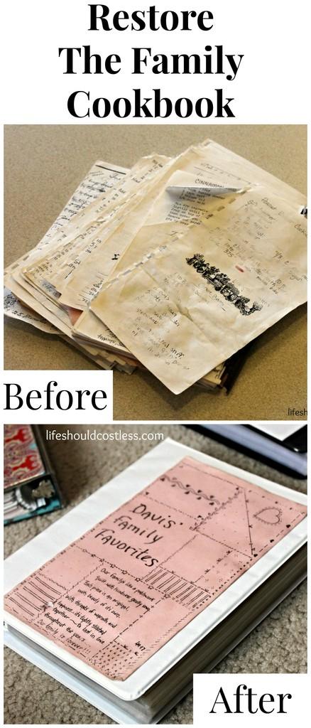 Restoring The Family Cookbook