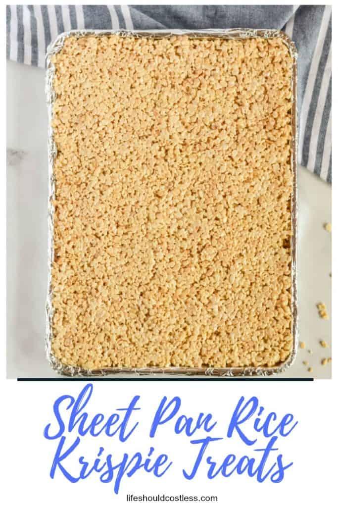 Big batch of rice krispie treats. lifeshouldcostless.com