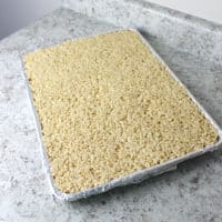 Full cookie sheet rice crispy treats recipe.