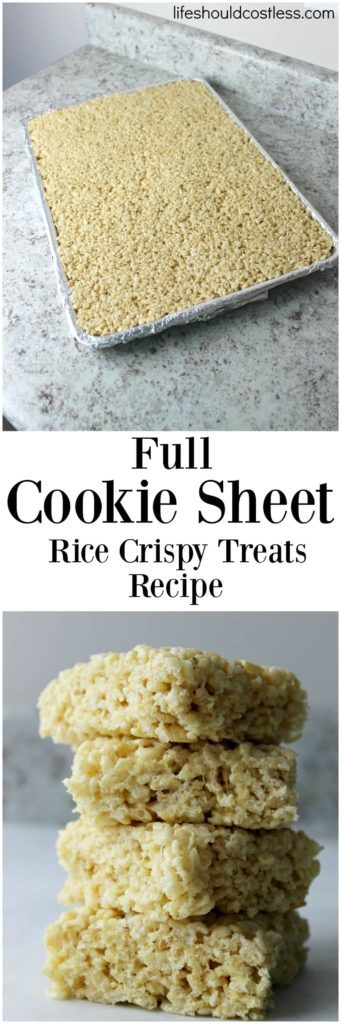 Full cookie sheet rice crispy treats recipe..
