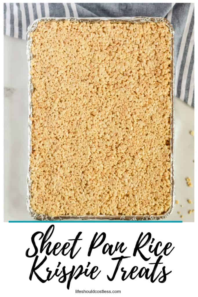 The best sheet pan rice krispie treats recipe to feed a crowd. lifeshouldcostless.com