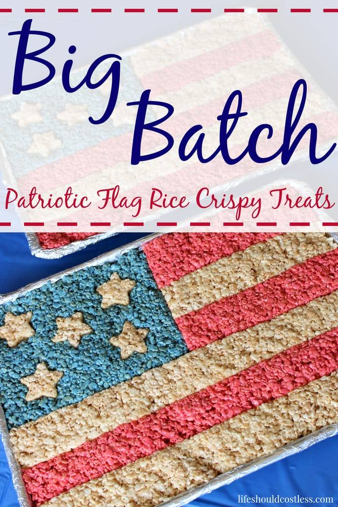 Big Batch Patriotic Flag Rice Crispy Treats With Basic Tutorial