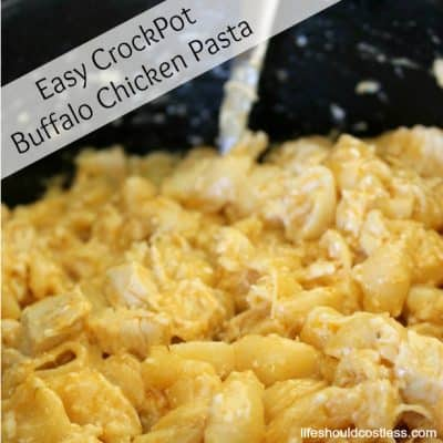 Easy CrockPot Buffalo Chicken Pasta