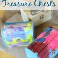 Indoor Kids Craft Idea, Treasure Chests