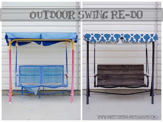 Stunning Outdoor Swing Make-Over