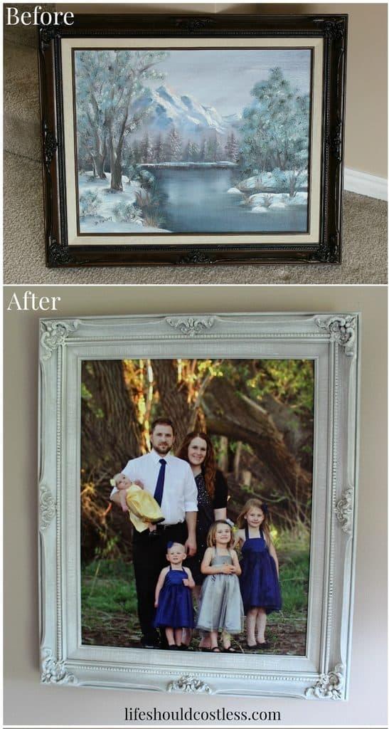 The Ornately Framed, Yet Inexpensive, Formal Family Portrait