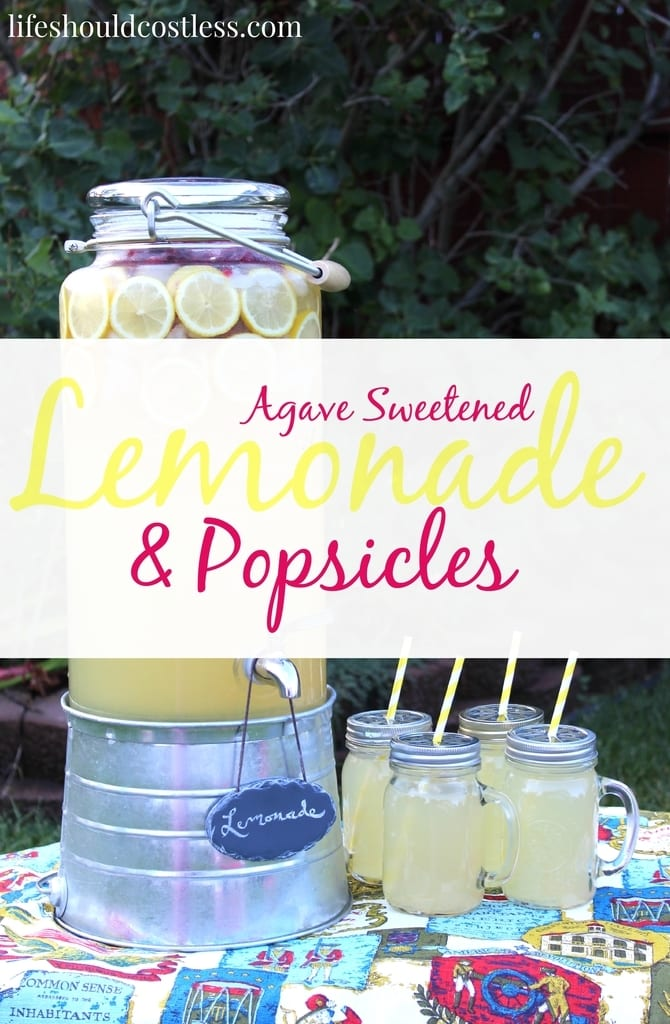 Agave Sweetened Lemonade & Popsicles