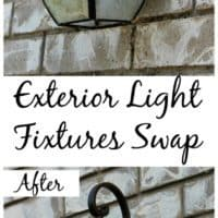 Outdoor Light Fixtures Swap, Before And After.
