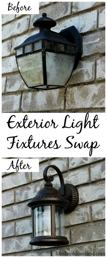 Outdoor Light Fixtures Swap Before And After Life