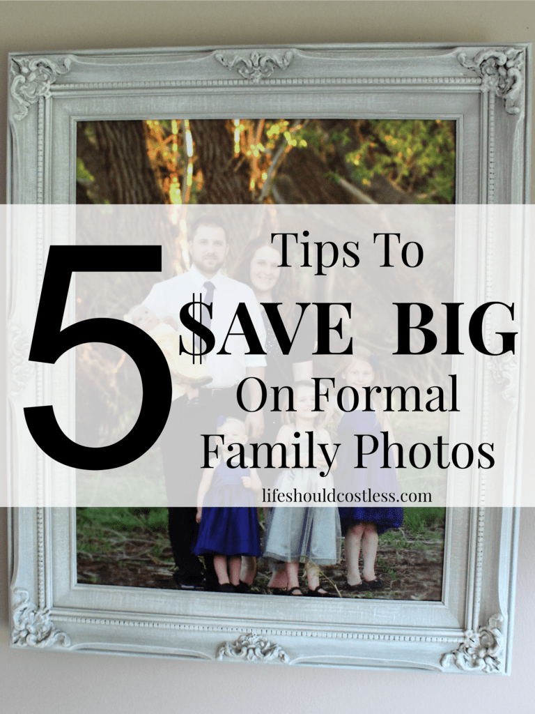 5 Tips To Save Big On Formal Family Photos