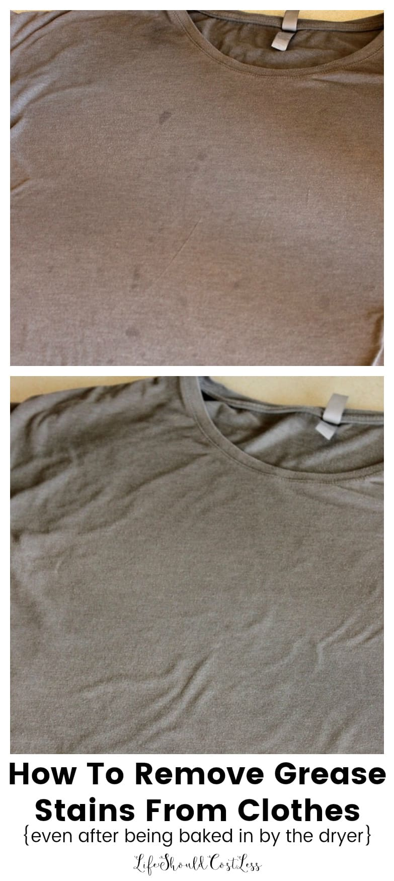 How To Get Grease Stains Out Of Clothing, even after being run through the dryer.