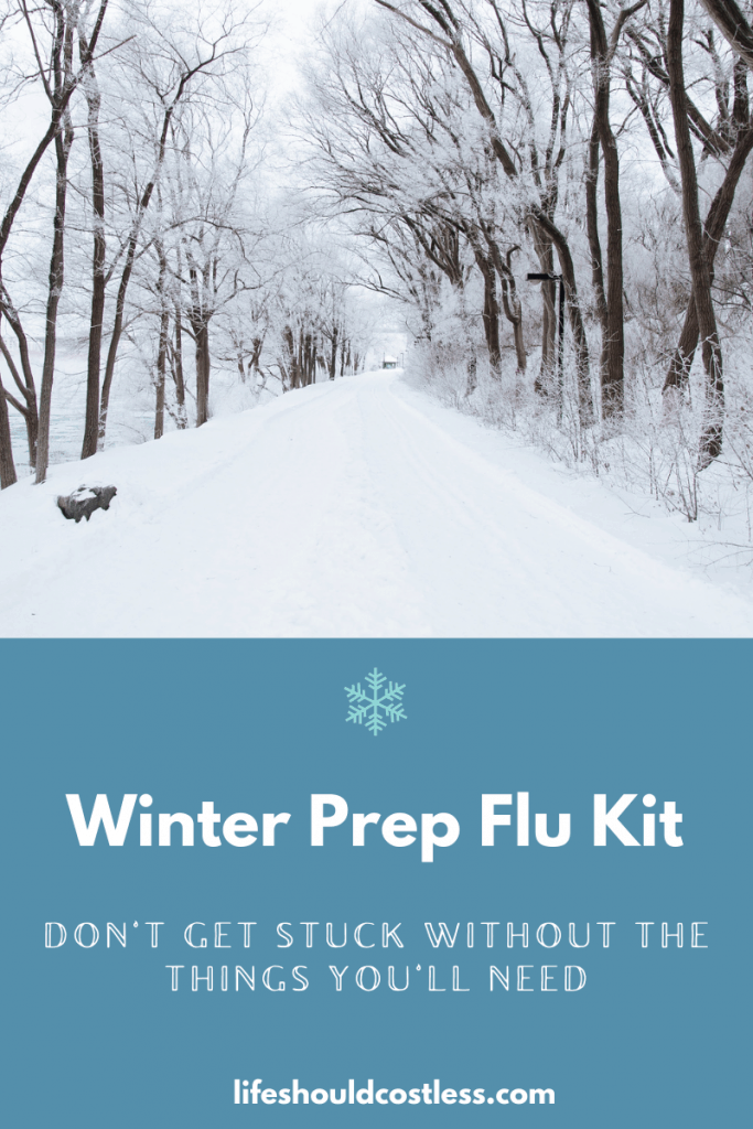 Winter prep flu kit. Tips to prepare for sickness before winter hits.